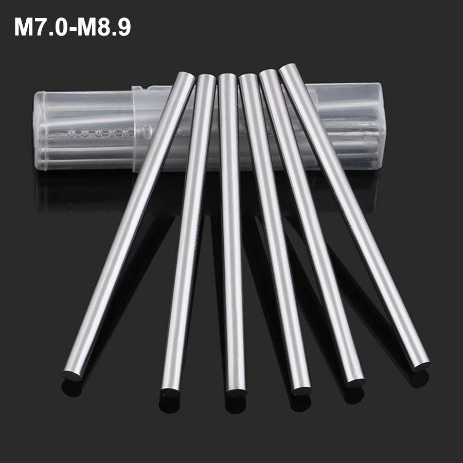 1Pcs M7.0-M8.9 Precision Round Turning Straight Handle High Speed Steel Metric Tool Round Rod Punch Pin Bar Punching Needle