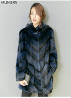 Arlenesain custom 2018 new fashion mink fur blue women cot