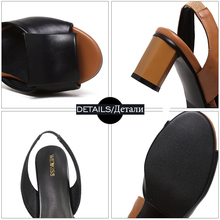 WETKISS Big Size 32-43 Slingback Sandals Women Brand Mixed Colors Back Strap Summer Shoes Woman Thick Heels Sandals Footwear