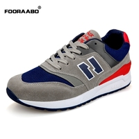 Fooraabo Breathable Casual Shoes For Men Lace Up Shoes Men Sneakers 2017 Spring Zapatillas Hombre Deportiva