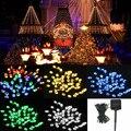 Hot Sale 5 color 8M 60 LED Solar Power String Fairy Light Outdoor Party Wedding Xmas Garden Decor