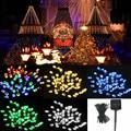 Venta caliente de 5 colores 8 M 60 LED de Energía Solar Cadena de Hadas de Luz Al Aire Libre Del Banquete de Boda de Navidad Decoración de Jardín