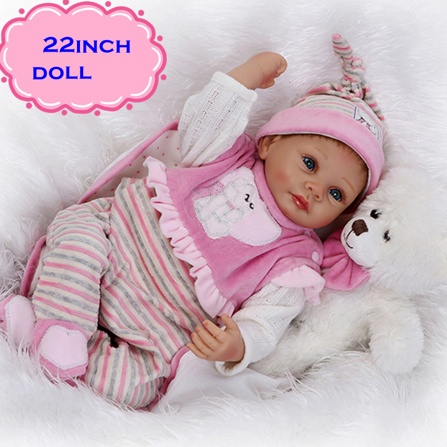 NPK 22'' 55cm New Arrival Silicone Reborn Baby Dolls For Sale Real Looking Newborn Baby Alive Bonecas For Best Gift Brinquedos npk 22 inch 55 cm silicone reborn baby doll real looking newborn baby soft dolls bebe kids gift reborn bonecas