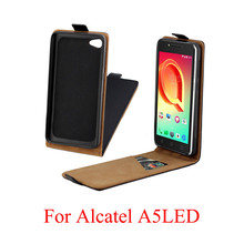 ФОТО luoshuyan business leather case for coque alcatel a5 led a5led 5085 5085d 5085y vertical flip cover card slot cases phone bags