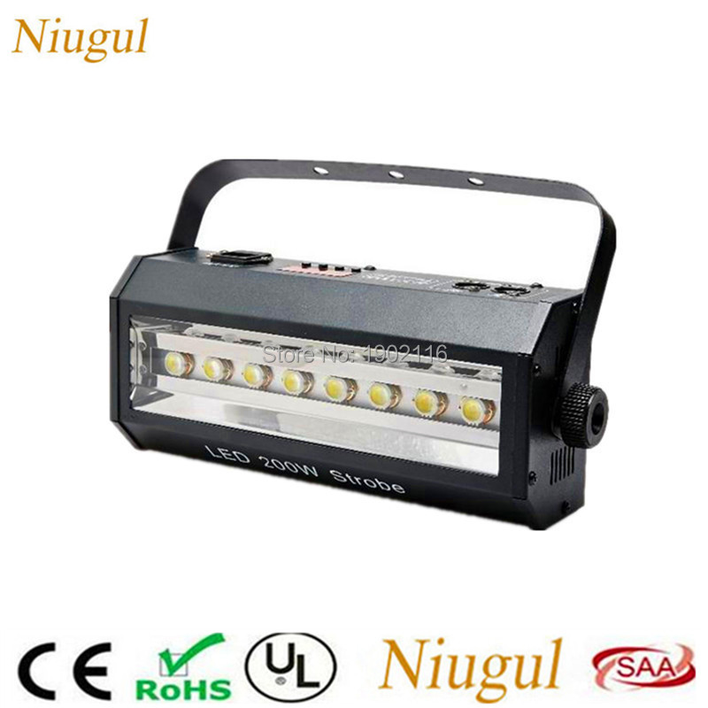 Niugul 200W led stroboscopic light/led strobe light bar KTV DJ equipments DMX stage effect lighting/led efficiency lights /disco niugul super dj disco lighting 7x12w led mini wash moving head light led beam dmx stage lighting ktv club led lamp chandelier