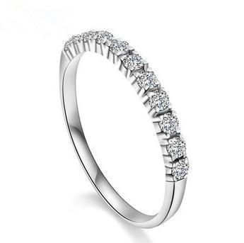 Neuankömmling Hot Sell Super Shiny Zircon 925 Sterling Silber Ladies`finger Trauringe Schmuck Großhandel