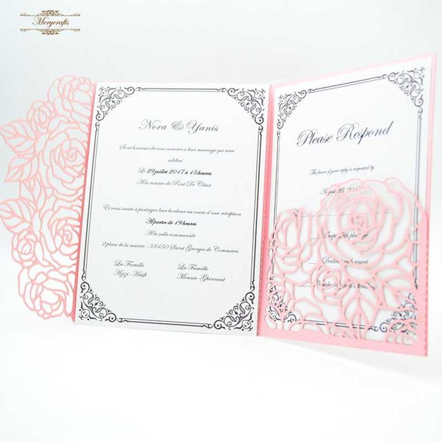 Tir Flod Pink Laser Cut Invitation Card For Islamic Wedding Favors In Cards Invitations From Home Garden On Aliexpress Com Alibaba Group