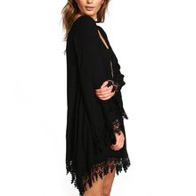 Chiffon Long Sleeve Tassel Dresses