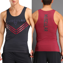 Vertvie Men's Tank Top Sports Vest Gym Fitness Outdoor Sportswear Running Vests Sleeveless Breathable Cotton Sweat Vest For Man
