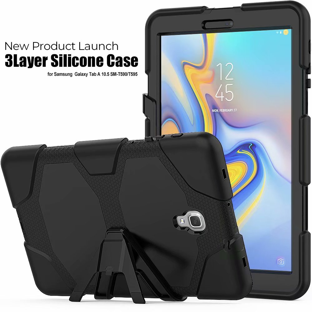 <font><b>Case</b></font> For Samsung Galaxy Tab A A2 10.5 inch 2018 <font><b>SM</b></font> <font><b>T590</b></font> T595 T597 Children Silicone Cover Shockproof Tablet 2 in 1 Hybrid <font><b>Case</b></font> image