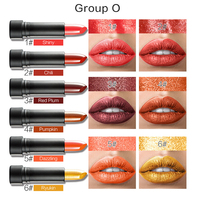 Huamianli 6Pcs/Lot Lipsticks Women Shimmer Moisturizer Lipstick Waterproof Best Deal Fashion New