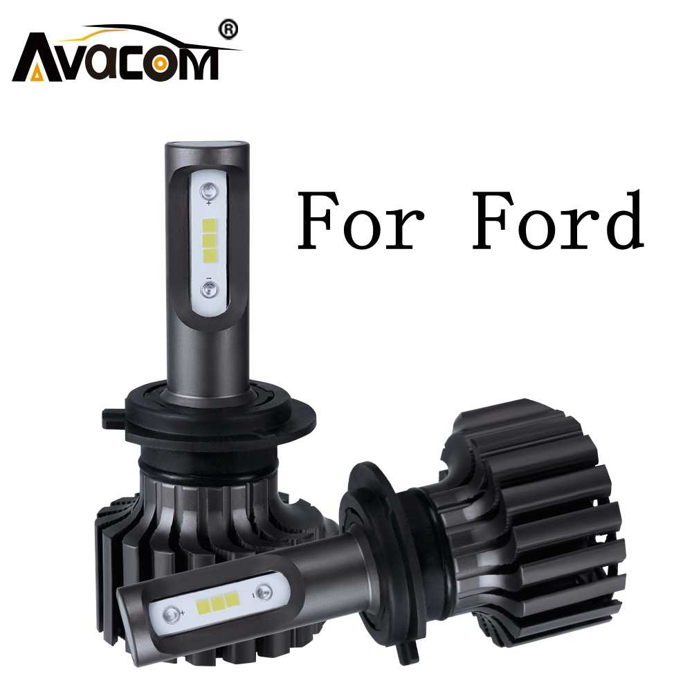 2Pieces LED Headlight Bulb For Car Turbo 12V 6500K 12000Lm Auto DRL Fog Light For Ford Ranger/Focus/Fiesta/Mondeo/C-Max/Explorer