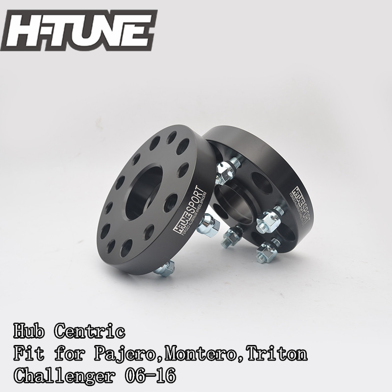 H-TUNE 4pcs Forged Aluminum Hub Centric 6x5.5 67.1CB 30mm Wheel Spacers Adapters for Pajero,Montero,Triton Challenger06-16 4pcs billet 4 lug 14 1 5 studs wheel spacers adapters for kia cerato