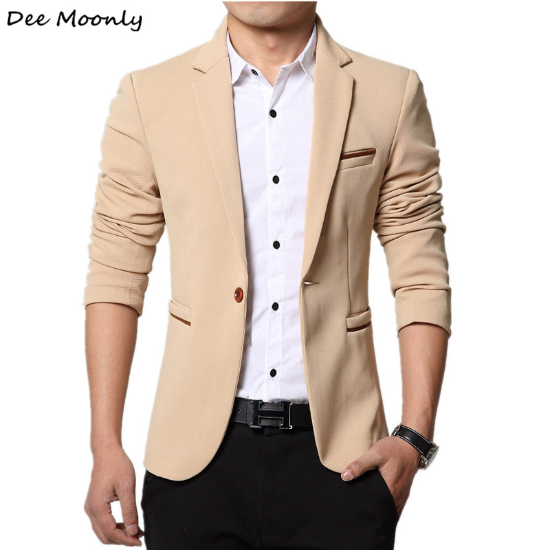 Dee moonly 2007 men slim fit fashion blazer suit jacket for Blazer with dress for wedding