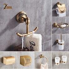 ZGRK пространство Алюминий ванная комната серии Античная щеткой полотенца кольцо туалет бумага держатель подстаканник крючок