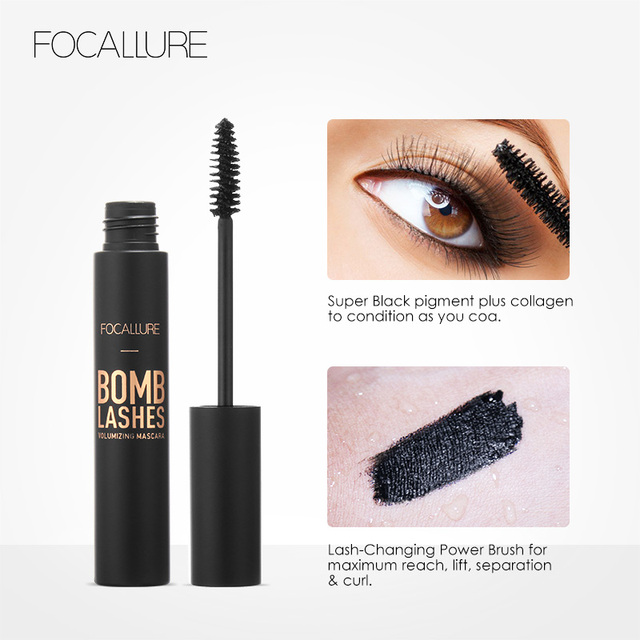 FOCALLURE Professional 3D Black Volume Curling Makeup Waterproof Thick Lengthening Eyes Beauty Makeup 3