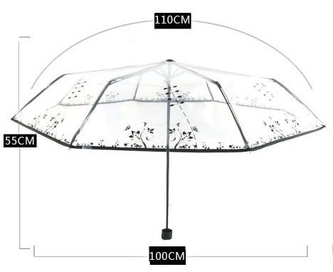 투명 플라스틱 PVC 나비 장미 꽃 패션 맑은 비오는 - 가정 용품 - 사진 6