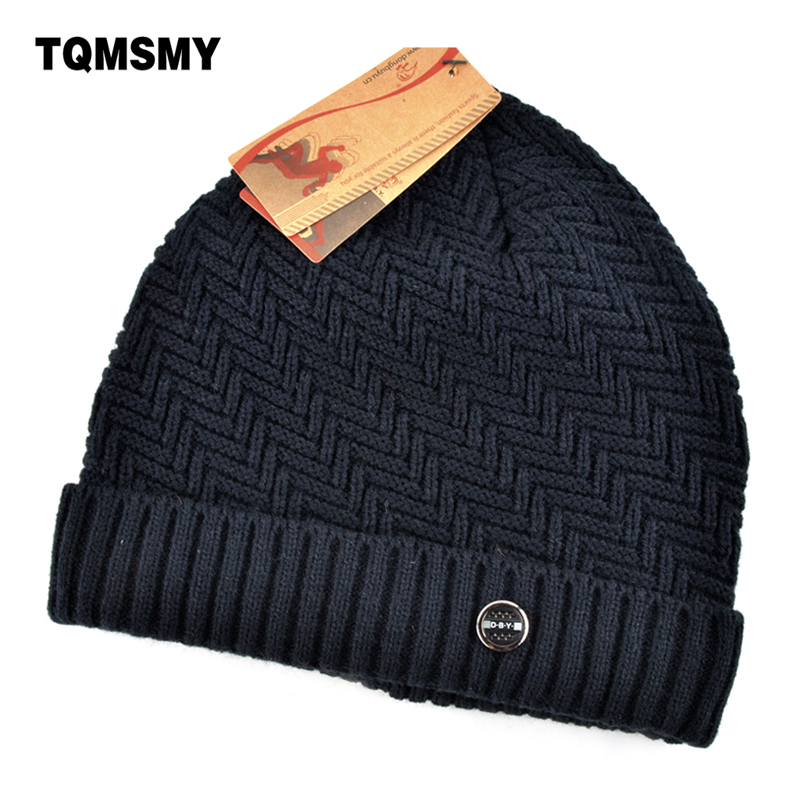 Winter hats for men bilayer knitted wool cap plus velvet  thicker women hat beanies for autumn men bad hair day bonnet gorros fashion autumn and winter knitting wool hat men and women winter cap lovely hair ball beanies bone gorros accessory colorful new