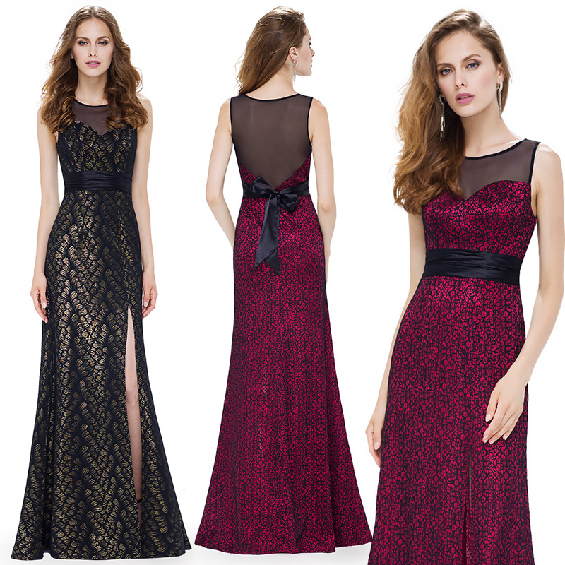 2018 вечерние платья тех довольно великолепные вечерние шею шнурок длинные пикантные черные сапоги вечерние EP08950 особых случаев Платья для в...