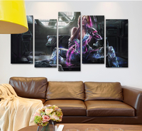 Abstract Home Decor 5 Pieces Canvas Art Colorful Girl Arms Poster HD Print on Canvas for Bedroom Wall Art Canvas Picture Artwork