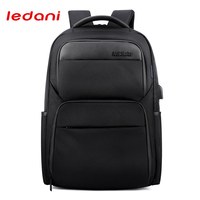 LEDANI Shockproof Backpacks Men USB Charge Laptop Backpack Business Travel Bag Waterproof Fashion Anti Theft Backpack