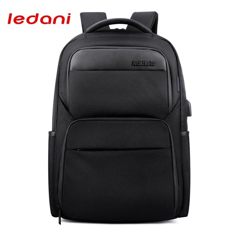 LEDANI Shockproof Backpacks Men USB Charge Laptop Backpack Business Travel Bag Waterproof Fashion Anti-theft Backpack Casual Bag