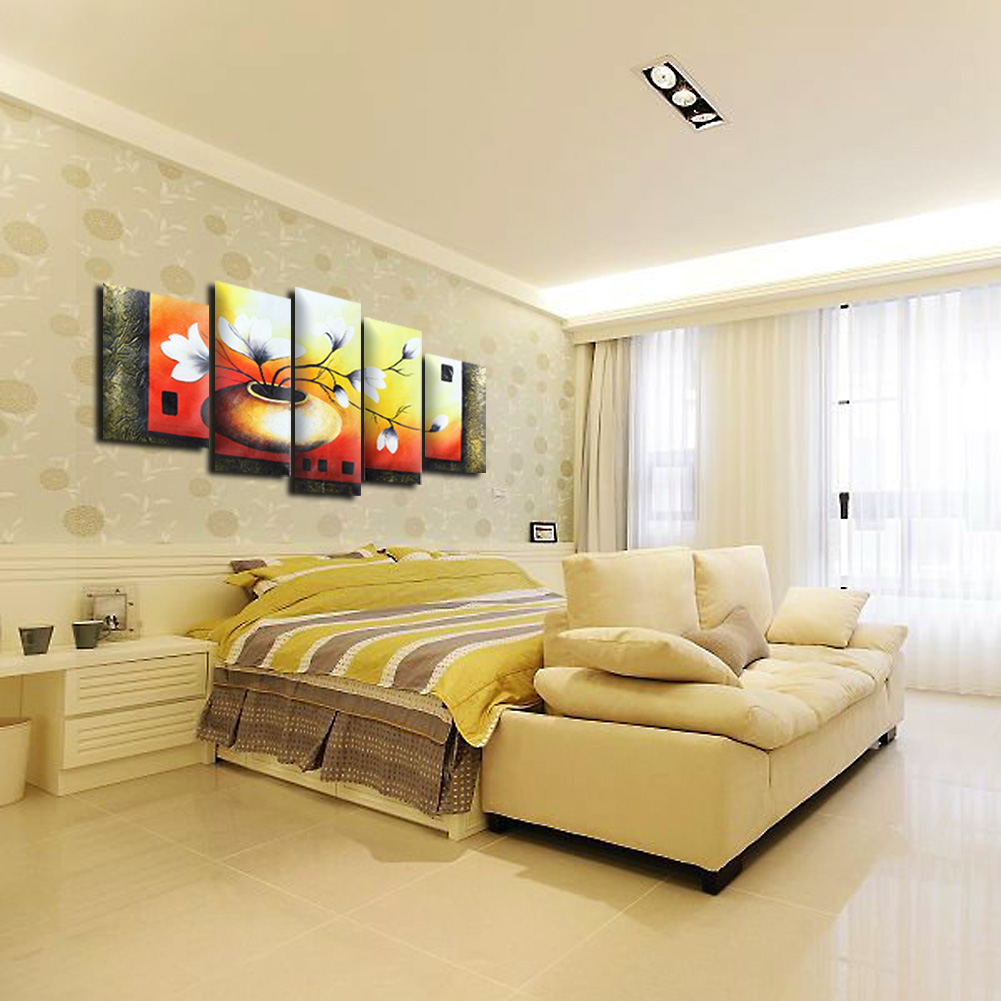 Modular Flower Blossom Hand Painted Oil Painting Canvas Modern ...