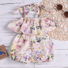 Toddler Baby Kids Summer 2019 Girls Clothes 2 3 Years Fashion Sleeveless Floral Romper Girls Outfits Kids Clothing For Girls(China)