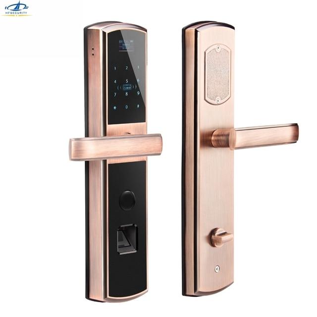home security door locks. hfsecurity home security fingerprint password ic card door lock anti theft touch pad code locks e
