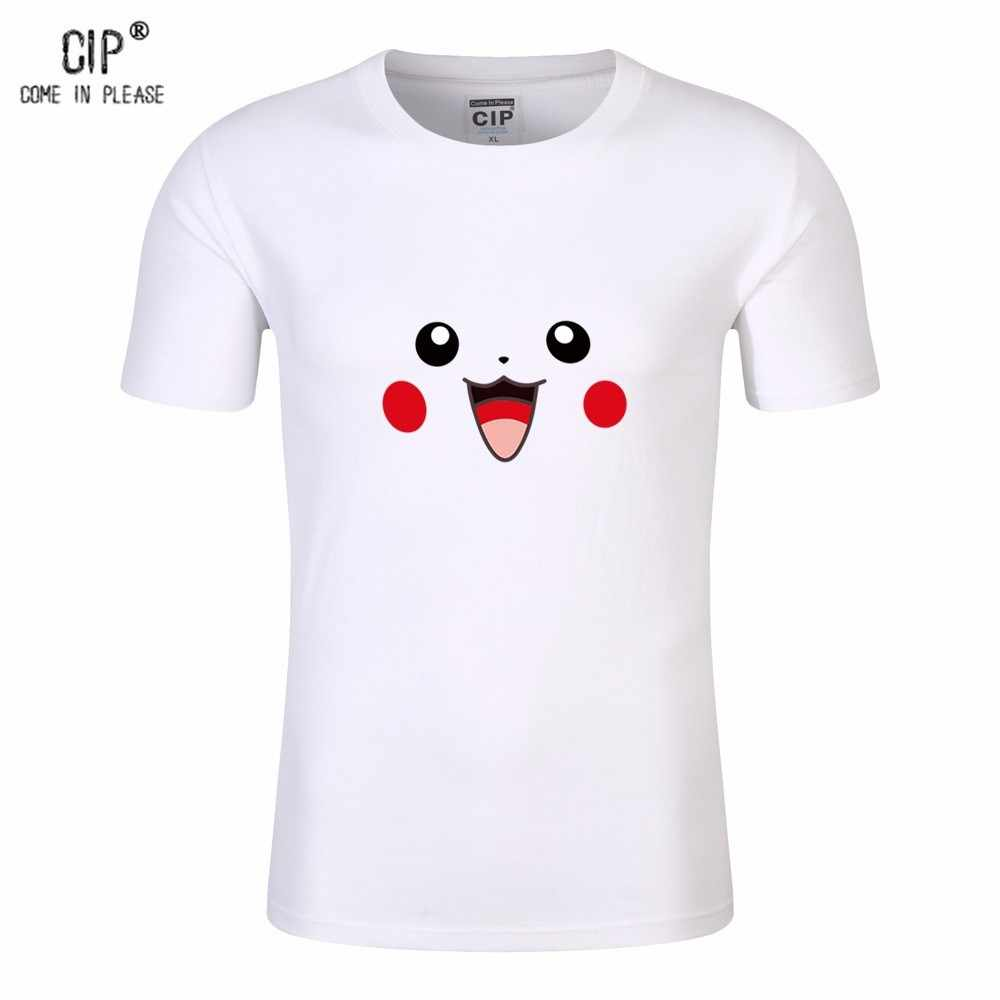 c9d866e7 ... 100% Cotton Pokemon Shirt Girls Tops Kids Boys Summer Clothing Cartoon  Pokemon Go Pikachu Child ...