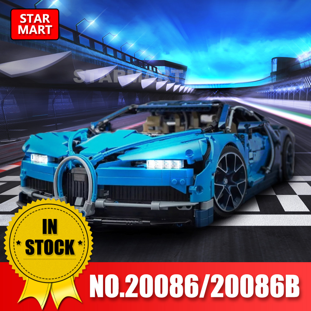 Lepin 20086 Technic Series Blue Racing car Chiron Racing Supercar Building Blocks Toy legoingly kids Gift in stock dhl decool 3333 building blocks toy 1 10 car model supercar red assemblage racing brain game gift clone 8145