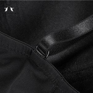 Image 4 - TOPMELON seksowna bielizna cienki jedwab stałe Shapewear dla kobiet gładkie miękkie body bielizna wyszczuplająca brzuch bielizna czarny Nude