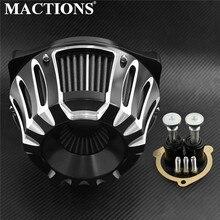MACTIONS CNC Handwerk Luftfilter Reiniger Intake Filter Für Harley Sportster XL 91 19 Softail 2000 2019 Dyna FXSBSE 13 14 Touring