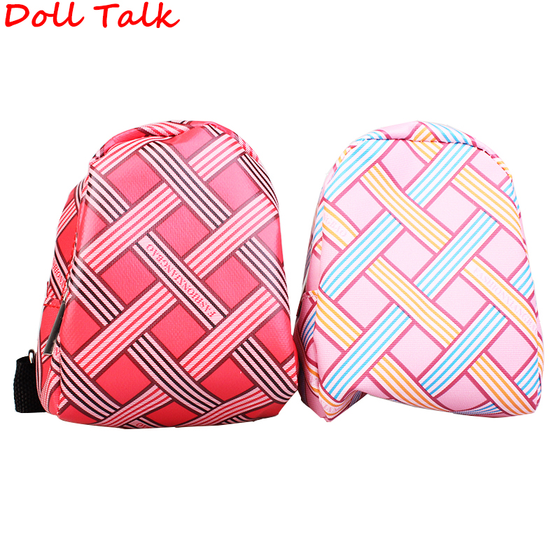 DollTalk Cute Fashion American Doll Bag Cross Line Square Girl Backpack Shoolbag For Blyth Pullip Bjd Doll Doll Accessories