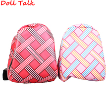 DollTalk Cute Fashion American Doll Bag Cross Line Square Girl Backpack Shoolbag For Blyth Pullip bjd Accessories