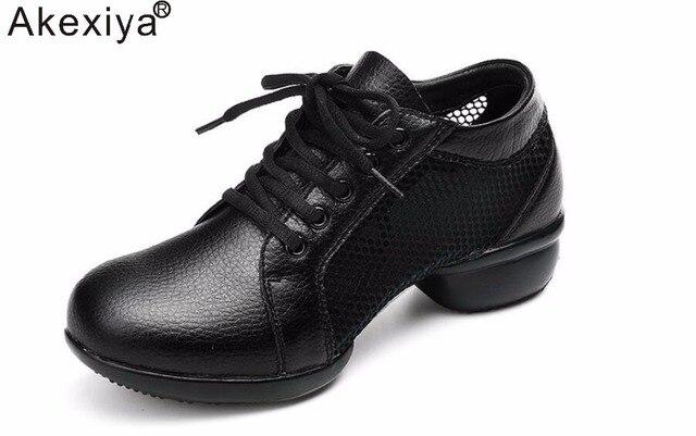 b9ffb453c € 18.53 |Akexiya Marque Mesh Jazz Salle De Bal De Danse Chaussures Femmes  Noir/Rouge/Blanc Plus Grande Taille Sport Souffle Pratique De Danse ...