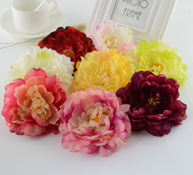 1pcs wedding arch boutonniere artificial flowers peony decorative crafts garland head wreaths fake flowers