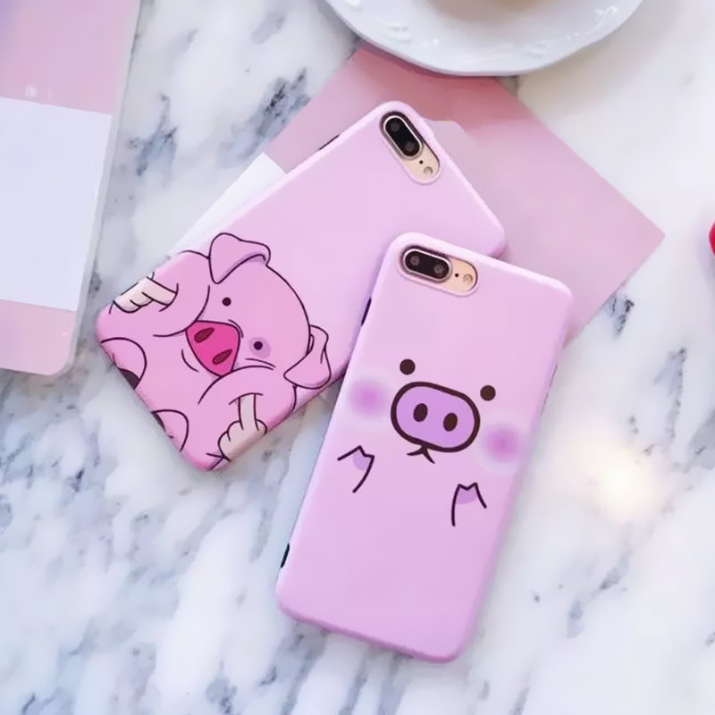 Galleria fotografica 2017 New Fashion Cute Cartoon Pink Pig Phone Cases For iPhone 7 case Soft Silicone Cover Coque For iPhone 7 7Plus 6 6s 4.7