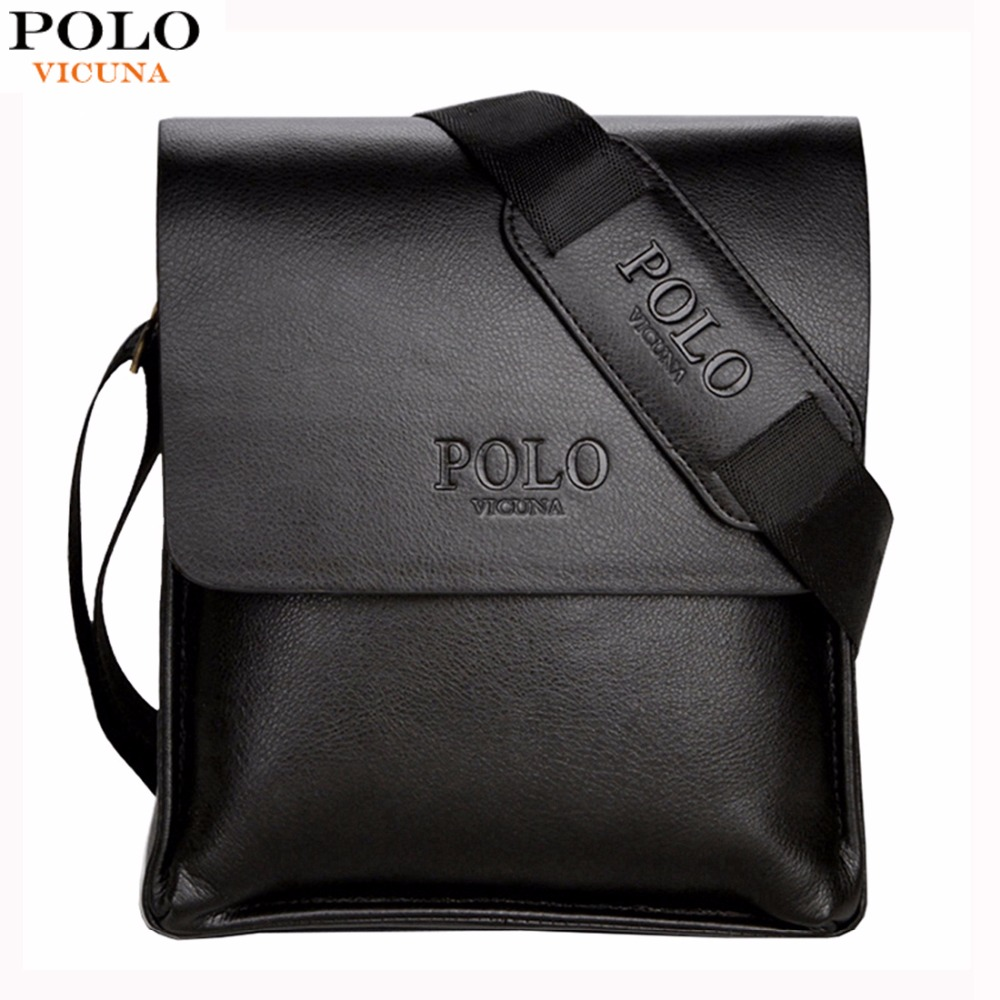 Miglior acquisto ) }}VICUNA POLO Famous Brand Leather Men Bag Casual Business