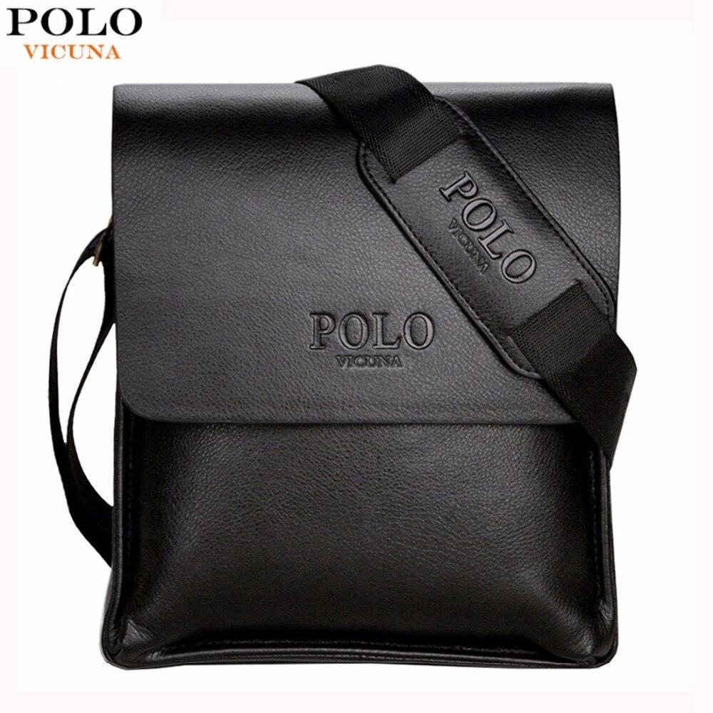 VIGOGNA POLO di Marca Famosa In Pelle Sacchetto di Cuoio Business Casual Mens Messenger Bag uomo Vintage Crossbody bolsas Borsa di sesso maschile