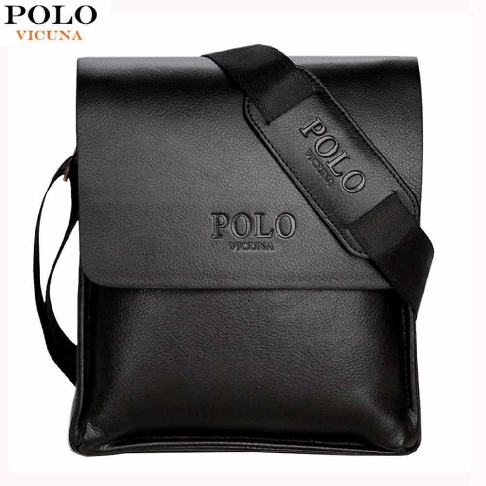 Vicuna Polo famosa marca hombres de cuero casual de negocios de cuero mens Messenger Bag vintage hombres crossbody bolsos de hombre