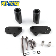 Freeshipping motorcycle parts No Cut Frame Slider Protector For Yamaha YZF R1 YZFR1 YZF-R1  2009 2010 2011 2012 Carbon цена