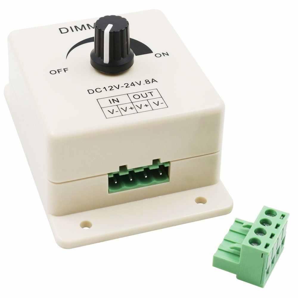 Светодиодный диммер DC 12 V 24 V 8A регулятор яркости лампы панель с лампочками драйвер Одноцветный контроллер электропитания