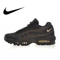 Оригинальный Nike Оригинальные кроссовки Air Max 95 Премиум мужские кроссовки на открытом воздухе тренд Спортивная дышащая обувь для спорта диза