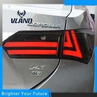 2pcs LED Tail Lights For Toyota Corolla 2014 2015 Brake Signal Tail Light Stop Rear Lamps