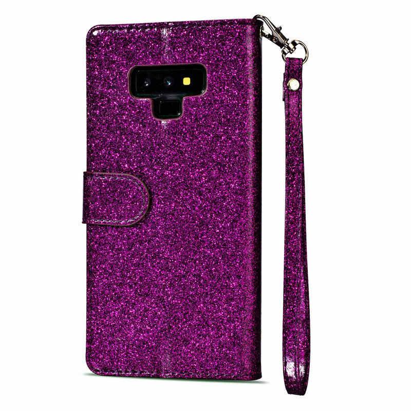 Чехол для samsung S9Plus чехол Note9 Bling молния откидная крышка samsung Note 9 Чехол кошелек для samsung Galaxy S7 край S8 S9 плюс
