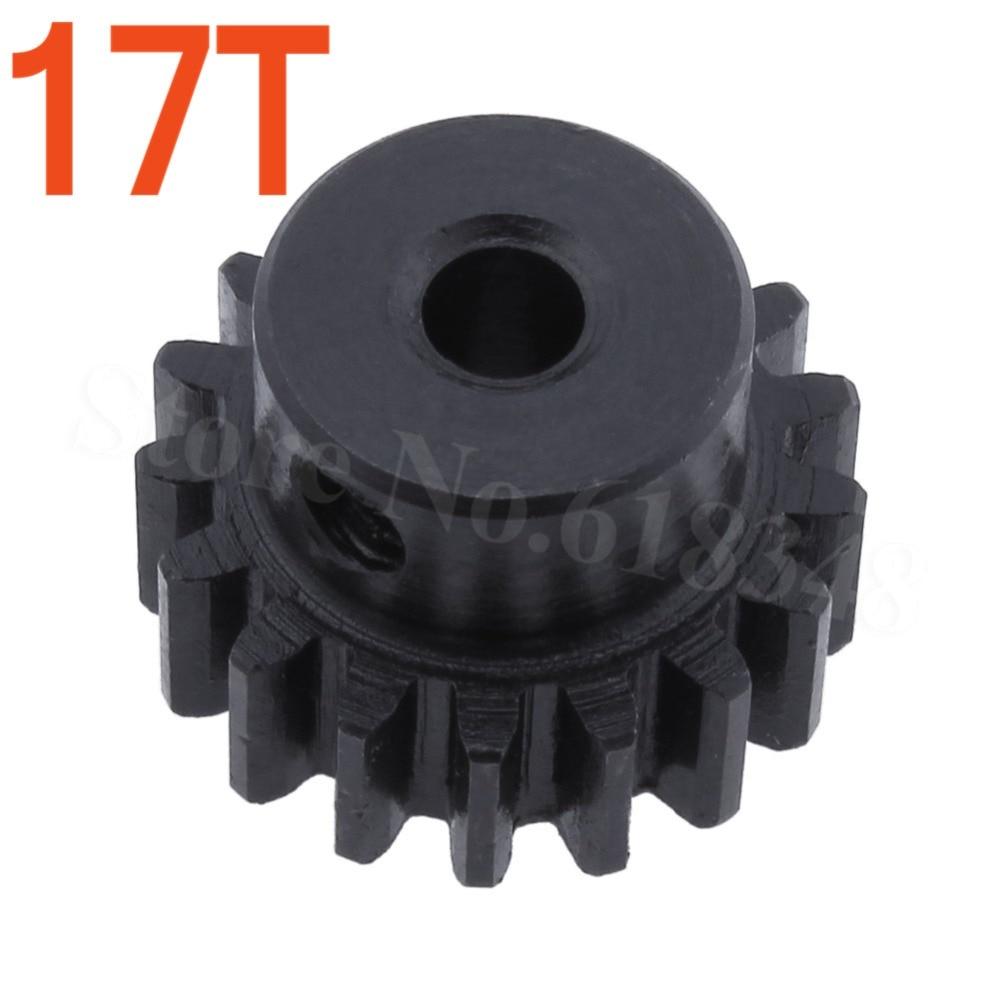 Steel Metal Motor Pinion Gear 17T 0.8 Module For 1:10 Himoto E10XT E10XTL Katana Truggy Spare Parts