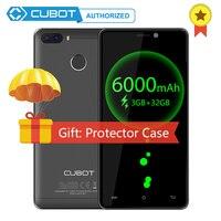 Оригинальный Cubot H3 6000 мАч большой Батарея MT6737 Android 7,0 4 ядра 3 ГБ Оперативная память 32 ГБ Встроенная память 13.0MP смартфон с отпечатками пальцев