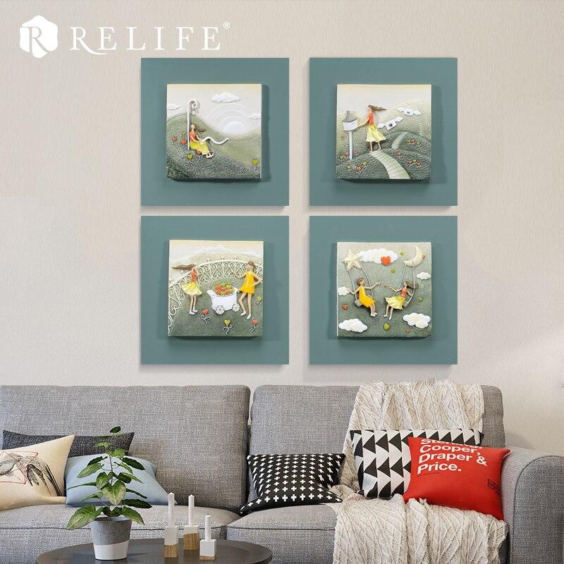 3D Home Decor Wall Art Paintings For Living Room Frameless Modern Artwork Friendship Between Two Girls