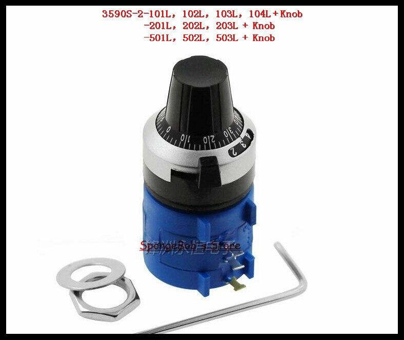 6 Kinds 3590S-2 Rotary Potentiometer 102L 104L 202L 203L 502L 503L Pot 10 Turn